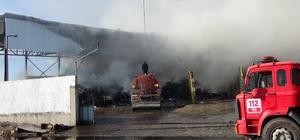 Osmaniye'de geri dönüşüm fabrikasında yangın Kontrol altına alınan yangında tonlarca geri dönüşüm malzemesi kül oldu
