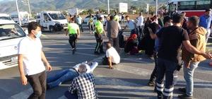 Otobüsün altında kalan motosikletli hayatını kaybetti Fren yapan otomobile çarpmamak için motosikleti ile manevra yapan şahıs, şehir içi yolcu taşımacılığı yapan otobüsün altında kalarak hayatını kaybetti