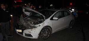 Otomobille çarpışan kamyonet hurdaya döndü: 1 yaralı