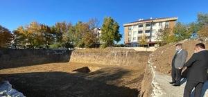 Ergene'ye yeni okul yapılıyor Kaymakam Taşçı okul inşaatını inceledi