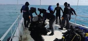 Marmara Denizinde 100 metrelik hayalet ağ bulundu
