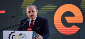 """TBMM Başkanı Şentop: """"Türk firmaları rakip ülkeleri korkuttu"""" Çerkezköy Endüstriyel Fuarı açıldı"""