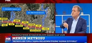 """Seçer: """"Merkezi hükümetin yüzü bize dönük olursa Mersin'i kimse tutamaz"""" Mersin Büyükşehir Belediye Başkanı Vahap Seçer, bir televizyon kanalının canlı yayınına katılarak, hizmetlerini ve projelerini anlattı"""